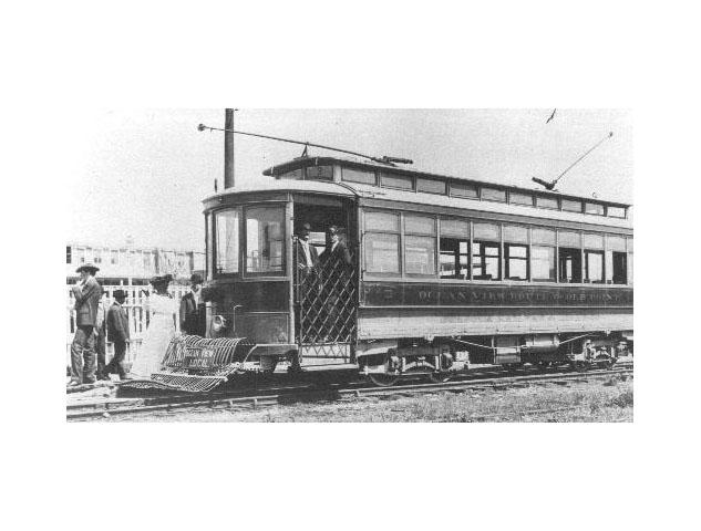 Ocean View Street Car, 1908