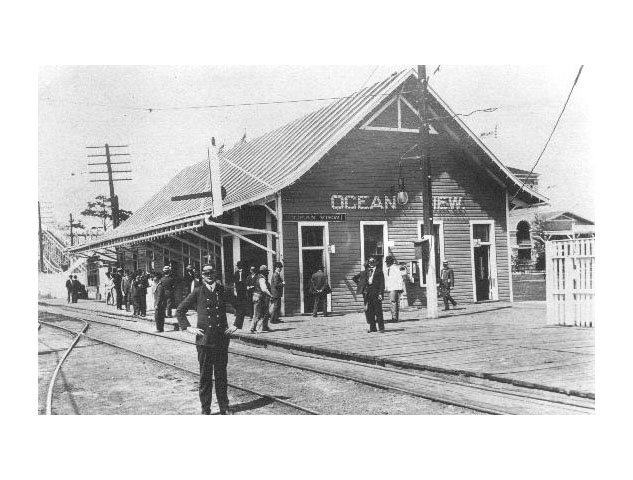 Ocean View Street Car Station, 1908