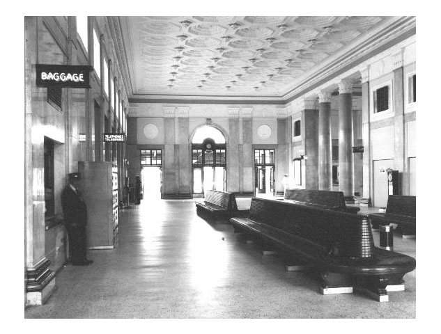 Norfolk's Union Station. Interior of the Main Street station