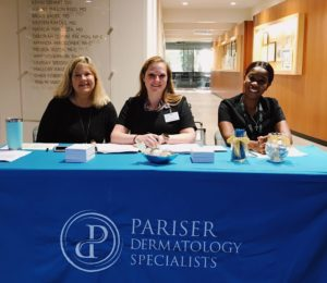 patient care team at pariser dermatology specialists in hampton roads