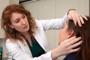 Rosacea skin check at Pariser dermatology specialists in Hampton roads